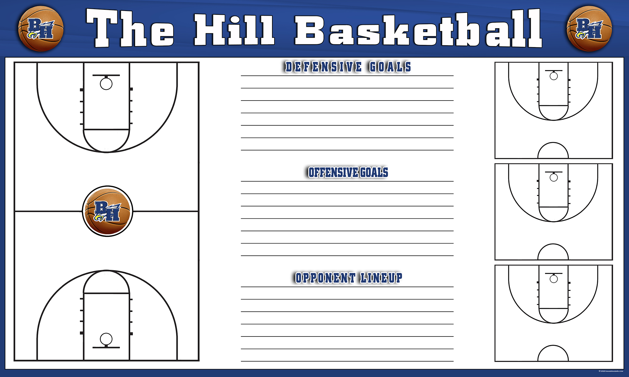 Barbers Hill MBB 2020 Planning board 36in x 60in