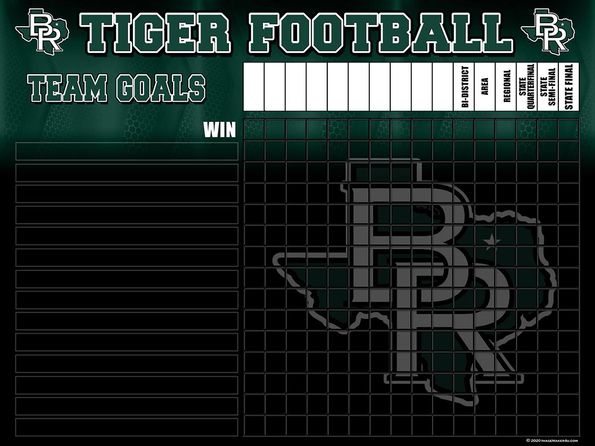 Blue Ridge FB Team Goals Board 32x48