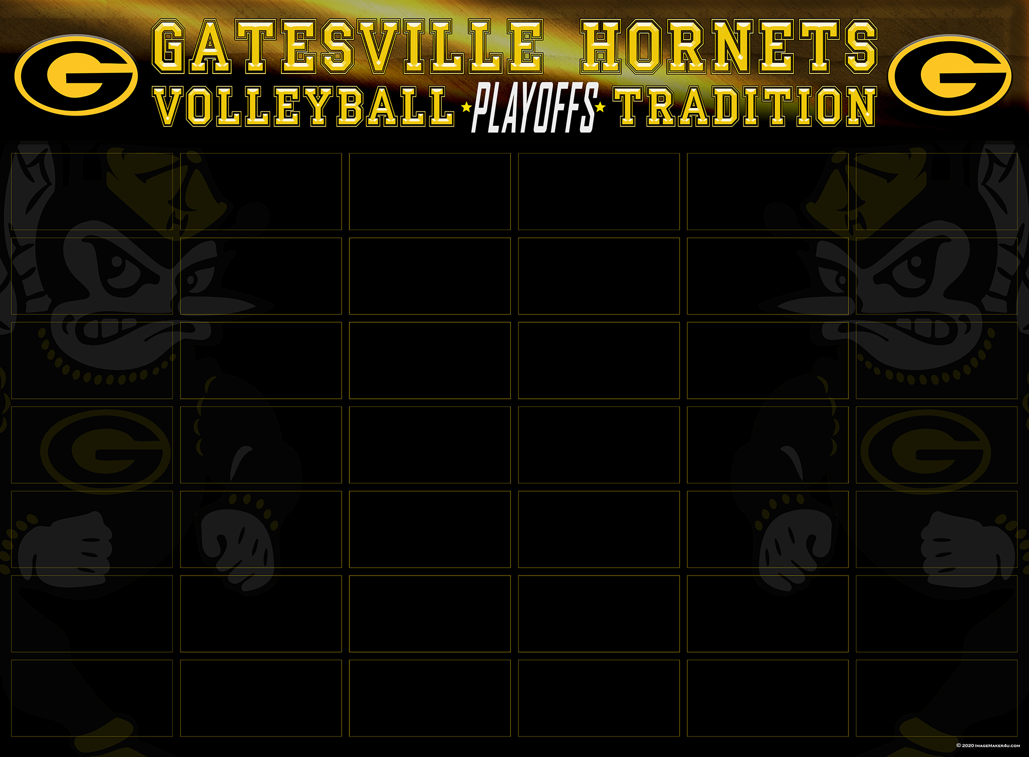 Gatesville Championship board Volleyball 48in x 66in