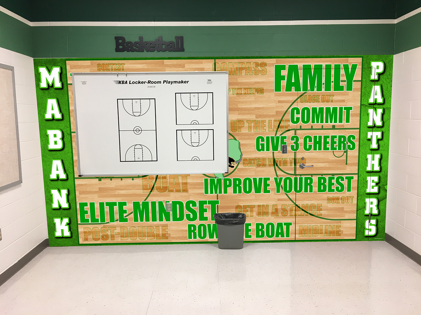 Mabank Basketball Wall Wrap 86in x 168 example