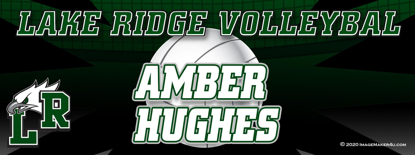 Mansfield Lake Ridge VB Varsity Locker Tags 3in x 8in