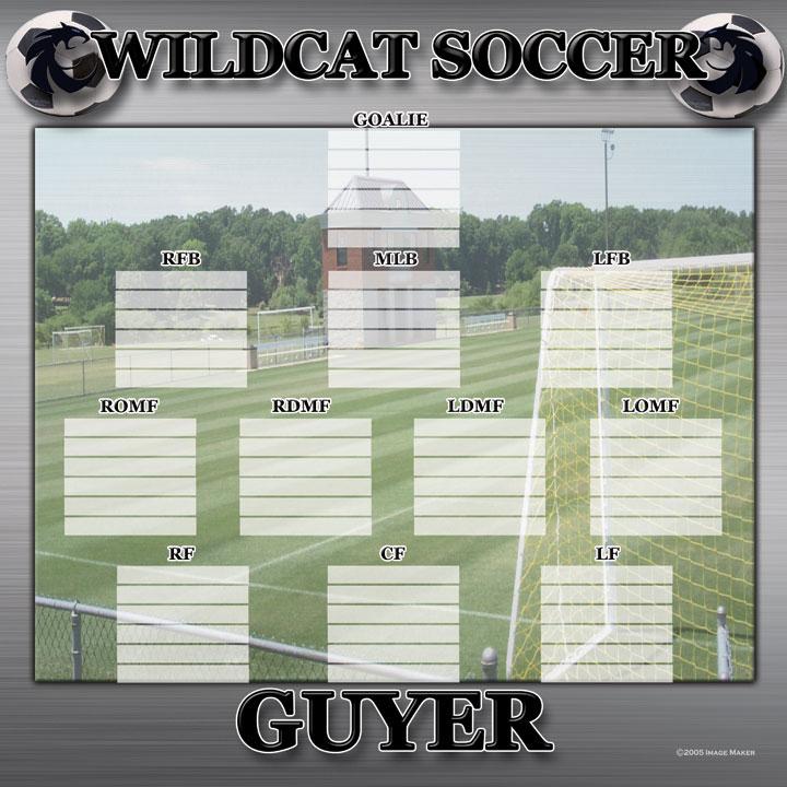 Guyer Soccer Depth Chart Image Maker