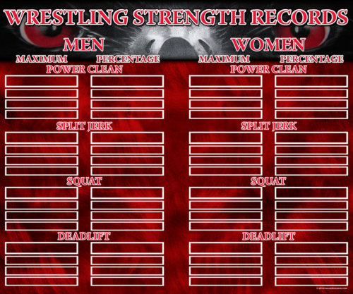 wrestling records boards from image maker