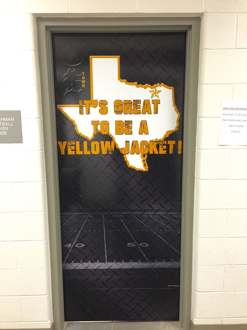 Want to change the image and appearance of your locker rooms hallways meeting rooms weight rooms and doors. Then install wall wraps and door wraps to ... & Door Wraps - Image Maker