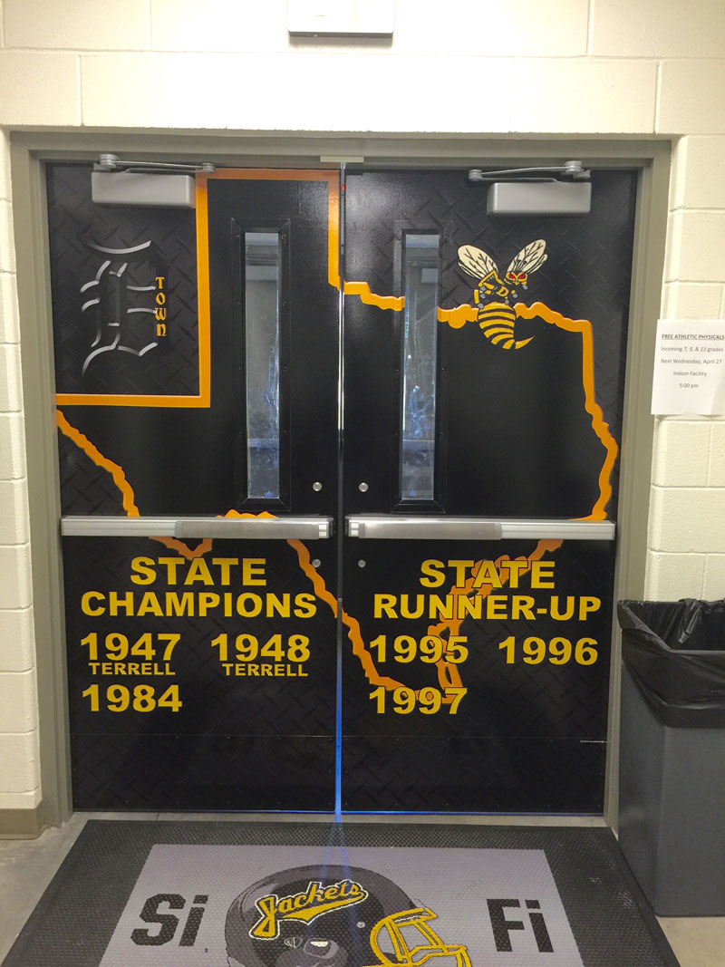 Denison State Door Wraps