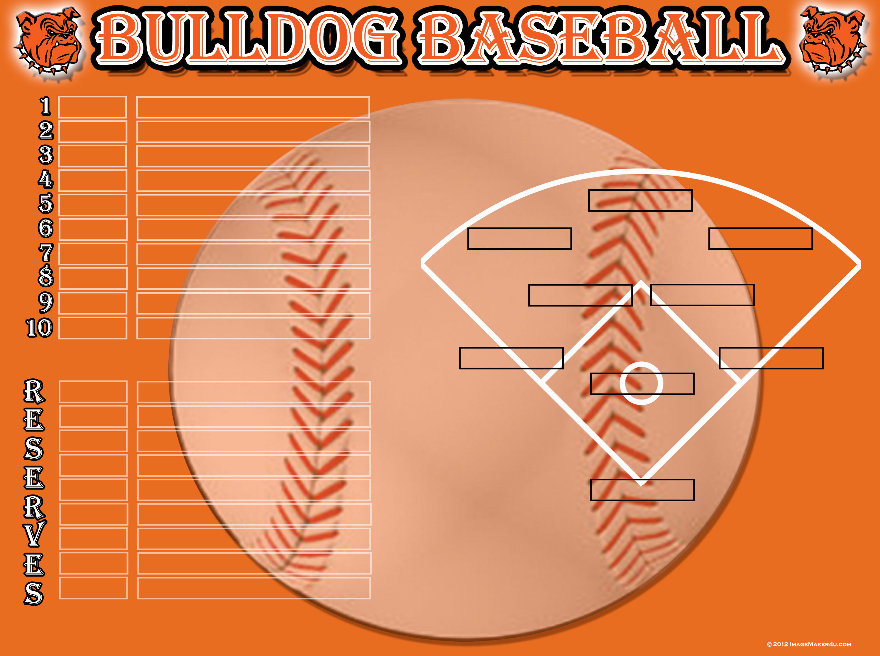 Baseball softball image maker for Baseball position chart template